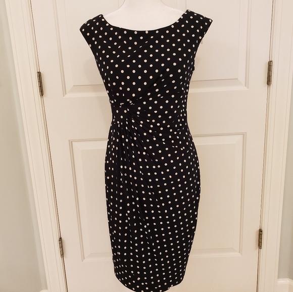 Polka Dot Sheath Dress NWT 8